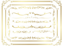 Decorative Gold Frame Set Vect...