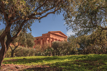 Valley Of Temples, Agrigento Sicily In Italy