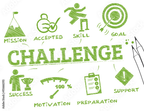 Fotografie, Obraz  challenge infographic