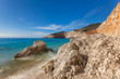 Beautiful summer white Porto Katsiki beach on Ionian Sea Lefkada