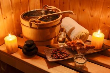 Obraz na płótnie Canvas Wellness und Spa in der Sauna
