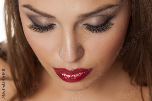 Makeup and artificial eyelashes Canvas Print