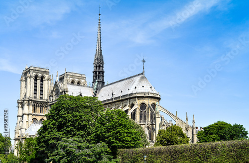 Foto op Plexiglas Kiev beautiful view Notre Dame Cathedral in Paris France (French for