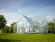 canvas print picture - Haus Standard Glas