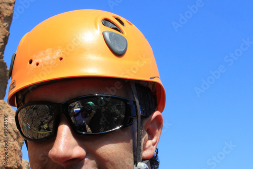 Foto op Plexiglas Alpinisme selfie in the mountaineer's sunglasses