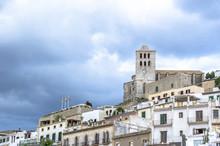 Dalt Vila Medieval Fortress. Ibiza Island And City.