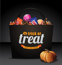 Trick Or Treat Bag With Candy