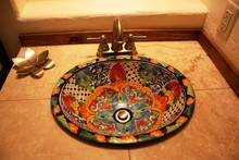 Hand Painted Mexican Washbasin