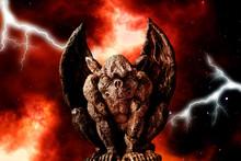 Gargoyle Against A Dramatic Background