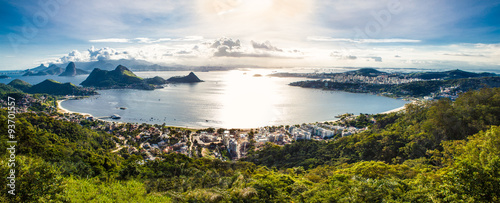 Photo  View of Rio de Janeiro and Guanabara Bay from the Cidade Park in