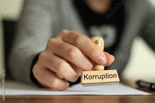 Stempel 2 KORRUPTION Poster