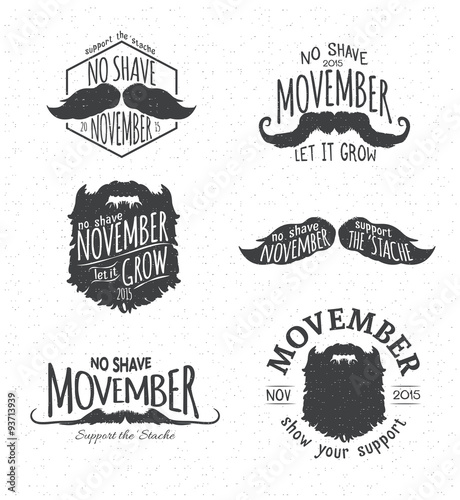 Photo  Insignias for No Shave November - Movember