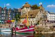 canvas print picture - Honfleur Vieux Bassin - Lieutenance