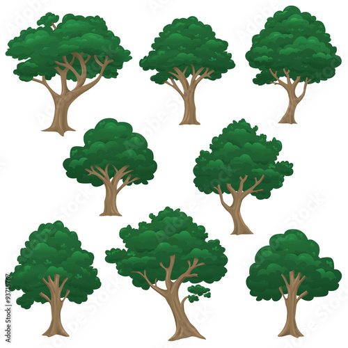 Photo Stands Kids rendered vector isolated trees