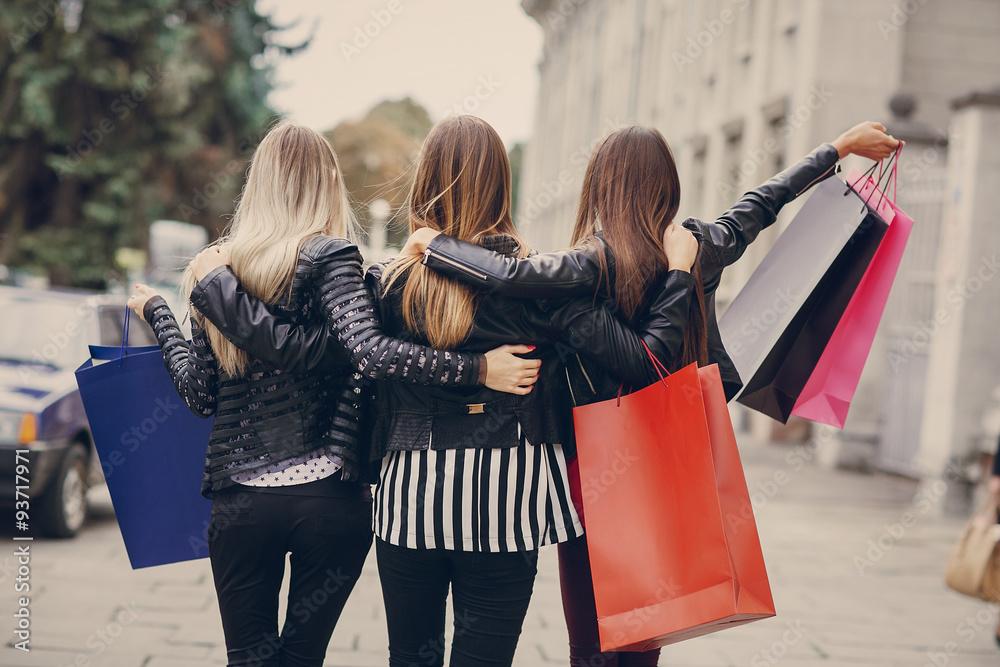 Fototapeta fashion shopping street