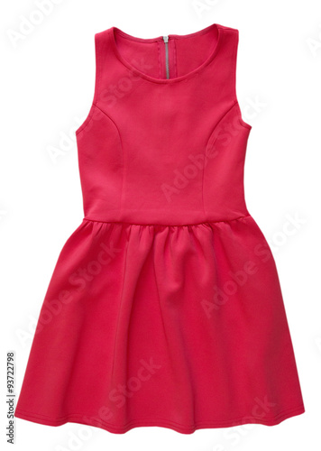 Fotografie, Obraz  Red dress isolated on white.