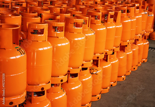 Fotografie, Obraz  LPG Gas Bottles. LPG plant