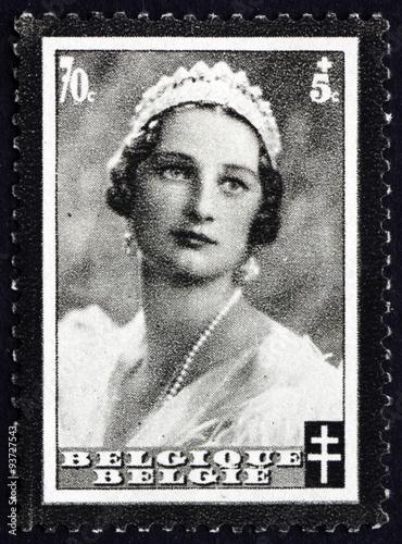 Postage stamp Belgium 1935 Queen Astrid Poster