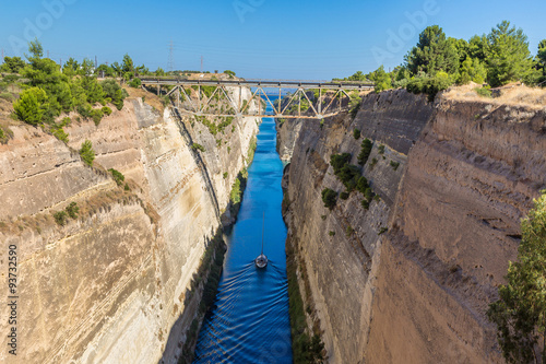 Corinth channel in Greece Canvas-taulu