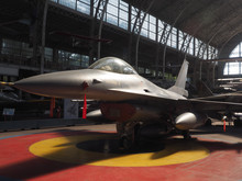 F 16 Fighting Falcon On Display At Brussels Belgium