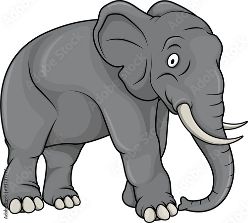 Wall Murals For Kids Elephant cartoon illustration