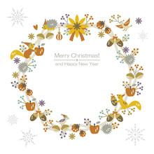 Wonderful Christmas Wreath & Snowflakes