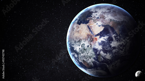 Deurstickers Nasa High resolution image of Earth in space. Elements furnished by