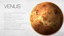 Venus - High Resolution Infographic Presents One Of The Solar