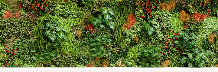 Panel Szklany big vertical garden - großer vertikaler garten - Pflanzwand