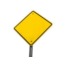 Isolated Yellow Street Sign