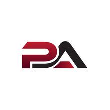 Modern Initial Logo PA