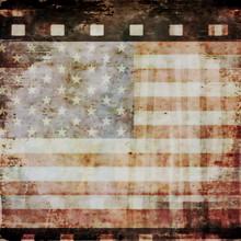 Grunge Film Strip Background A...