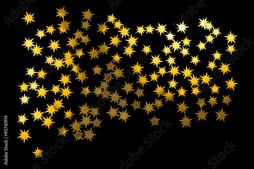 étoiles Dorées Sur Fond Noir Buy This Stock Illustration