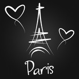 Fototapeta Fototapety Paryż - From Paris with Love