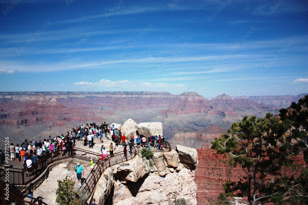 View from the Yavapai Point to Grand Canyon landscape in Arizona, USA