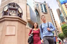 Hong Kong Times Square Causeway Bay People Walking
