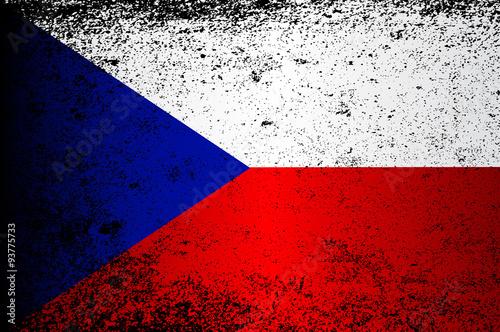 Cuadros en Lienzo Flag of Czech Republic Grunge