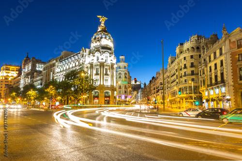 In de dag Madrid Gran Via Madrid