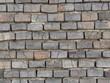 Zahn der Zeit - Hausmauer mit maroden Ziegelsteinen