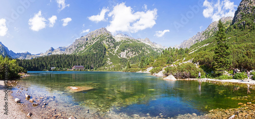 Photo  Panoramic view of Popradske Pleso, Tatra mountains, Slovakia