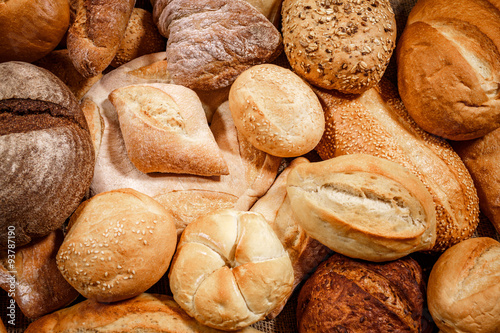 Foto auf Gartenposter Brot Breads and baked goods