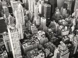 Czarno-biały widok na środek Nowego Jorku - 93794571