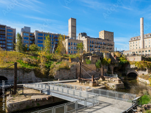 Fototapety, obrazy: Flour Mill Ruins in Minneapolis 1