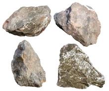 Big Granite Rock Stone Isolate...