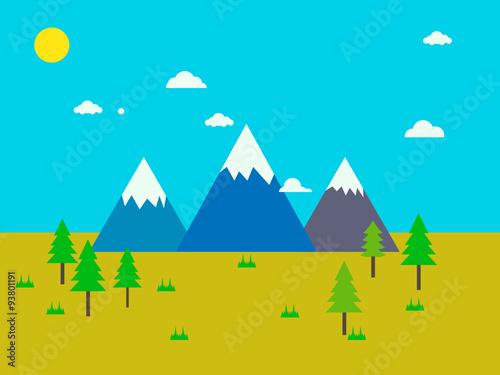 Spoed Foto op Canvas Turkoois mountain 5