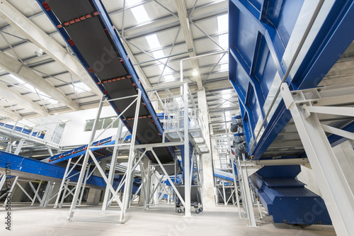Foto op Plexiglas Stadion Waste management facility