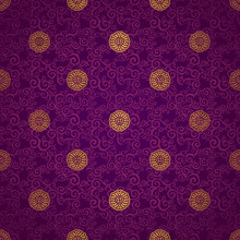 Vector Seamless Pattern In Eas...