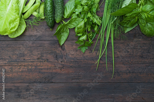 Fotobehang Groenten Green vegetables