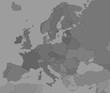 Carte politique d'Europe