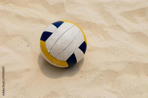 a Volleyball at the Summer Beach, Beach Volleyball Canvas Print